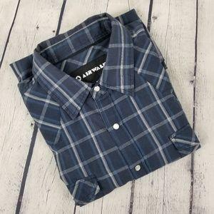 AIRWALK | plaid embroidered short sleeve shirt